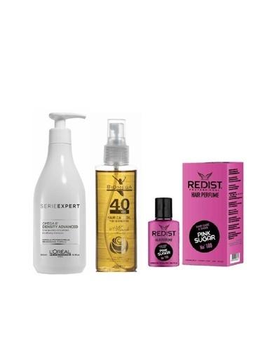 L'oreal Professionnel Loreal Density Advanced Omega 6 Şampuan 500 Ml+Biomega 40 Bitkili Doğal Saç Bakım Yağı 150 Ml+Redist Pink Sugar No:180 Saç Parfümü 50 Ml Renksiz